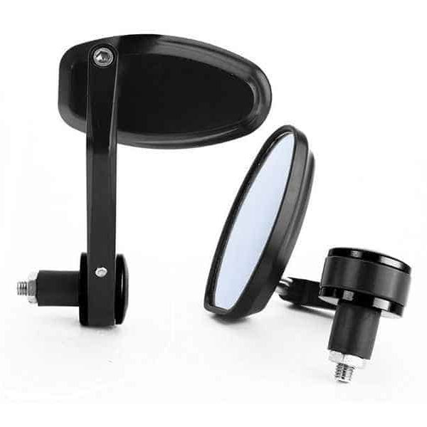 Universal Oval Motorcycle Bar End Mirrors - Aftermarket Parts
