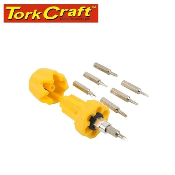 6 in 1 Stubby Screwdriver