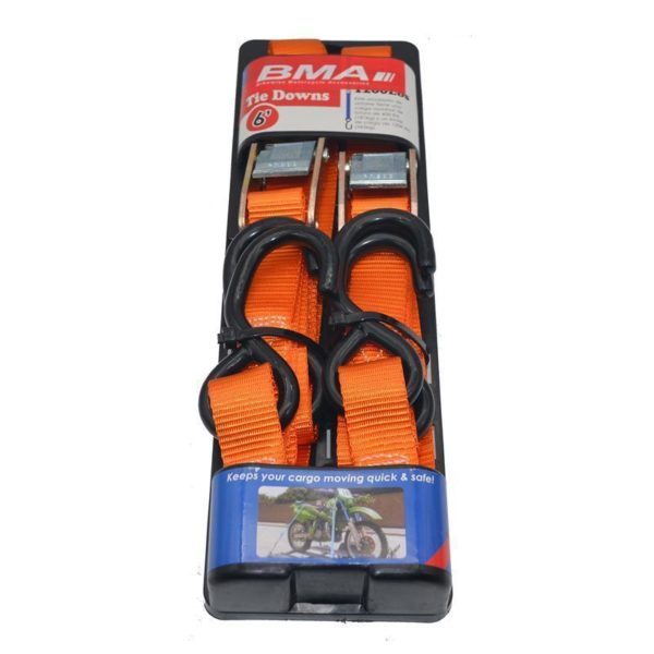 BMA Soft Loop Tie Downs with Hooks Orange - Twisted Trails