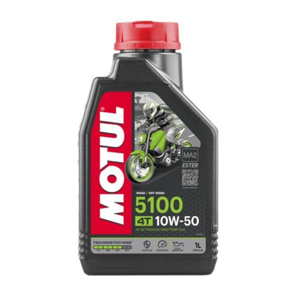 Motul 5100 4T 10W-40 Oil 1L - Synthetic Technosynthese 4-Stroke lubricant