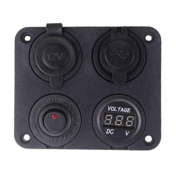 Charging Panel - 4 in 1 for Marine | 4X4 | Motorcycle | Caravan