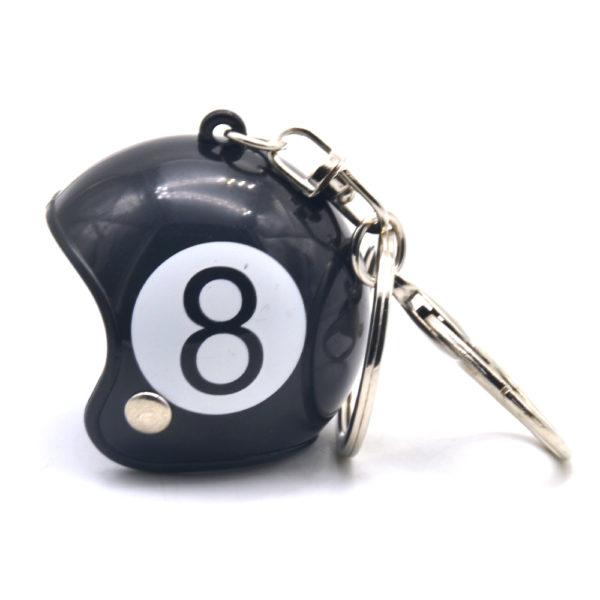 8 Ball Helmet Keyring