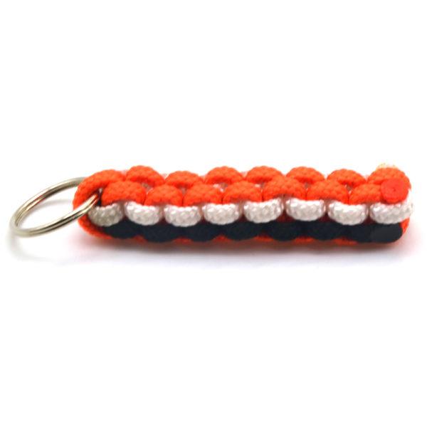 Orange | Black Paracord Keyring -