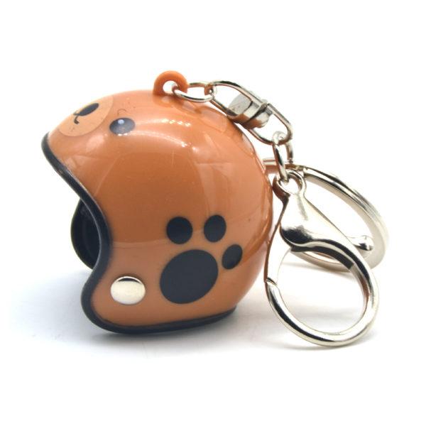Helmet Keyring - Brown Paw