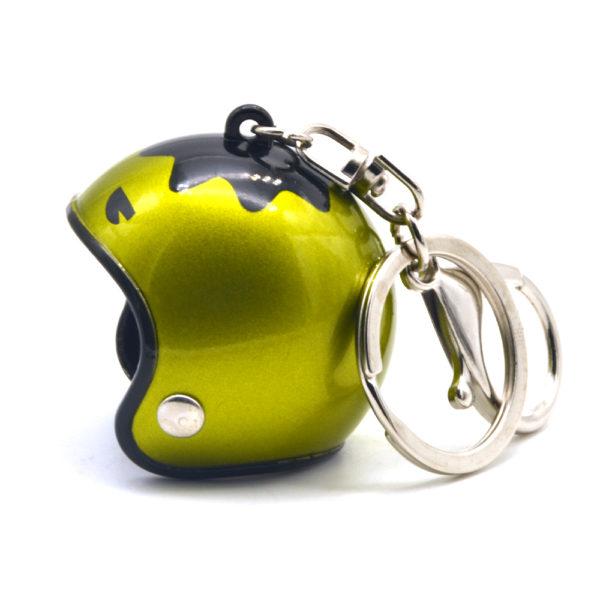 Helmet Keyring – Green mettalic