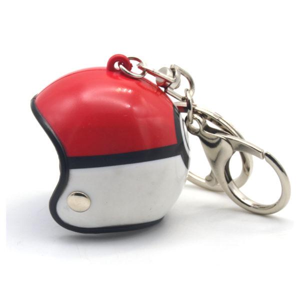 Helmet Keyring - Red | White